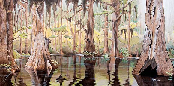 Swamp Thing Joseph Milazzo Portrays New Orleans Famous Bayou In Green Cathedral The Bay Ridge Artists Puts On An Exhibition Of His Crescent City